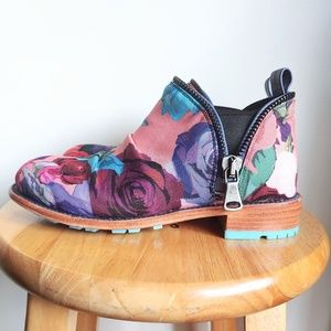 John Fluevog Evers 2.0 Floral Slip On Boots